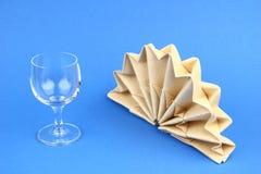 被折叠的餐巾 图库摄影