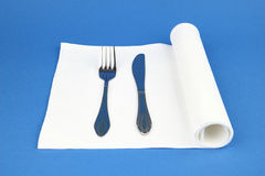 被折叠的餐巾 免版税库存图片