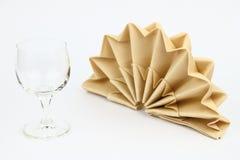 被折叠的餐巾 库存图片