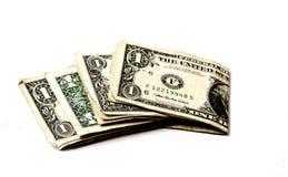 被折叠的货币 免版税库存图片