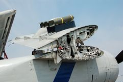 被折叠的ii海军平面战争飞过世界 图库摄影