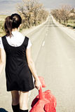 被抛弃的女孩 免版税库存图片