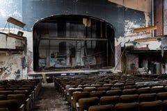 被抛弃的普罗克特的宫殿剧院-纽瓦克,新泽西 免版税库存图片