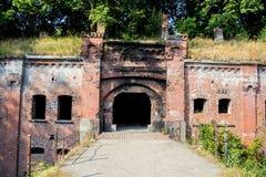 被抛弃的普鲁士人的堡垒`国王弗里德里克-威谦廉我`在加里宁格勒 免版税库存照片