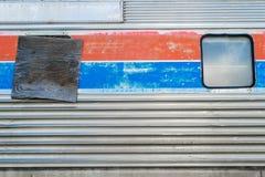 被抛弃的火车坟园老美国国家铁路公司乘客 免版税库存图片