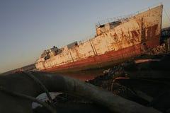 被报废的船 免版税库存照片