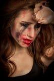 被抹上的化妆用品 库存图片