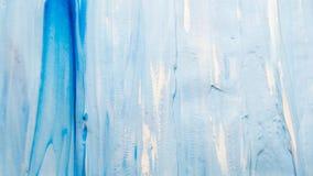 被抹上的蓝色油漆背景白色飞溅声 免版税图库摄影