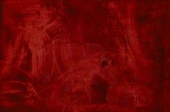 被抹的红色难看的东西纹理 库存照片