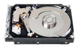 被拆卸的内部sata硬盘驱动器 库存图片