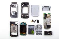 被拆卸的手机 免版税库存图片