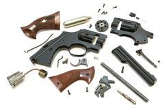 被拆卸的枪 免版税库存照片