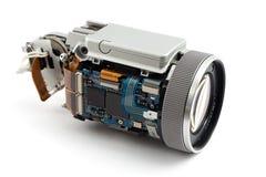 被拆卸的照相机 免版税库存照片