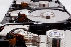 被拆卸的硬盘驱动器 免版税库存图片