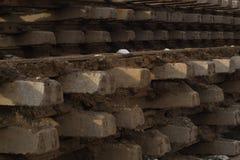 被拆卸的铁路 背景 免版税库存图片