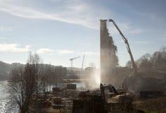 被拆毁的一老产业站点beeing 图库摄影