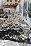 被拆毁的大厦 免版税库存图片