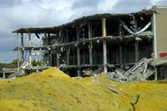 被拆毁的大厦 库存图片