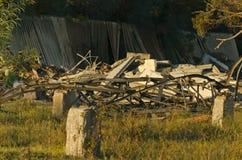 被拆毁的大厦 免版税库存照片