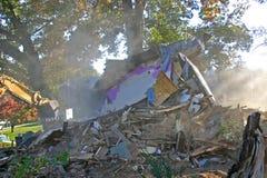 被拆毁的房子 免版税库存图片