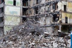 被拆毁的房子 库存图片