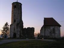 被拆毁的教会 免版税库存照片