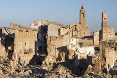被拆毁的村庄 免版税库存照片
