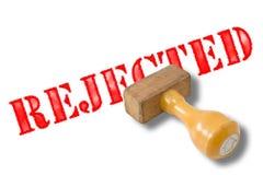 被拒绝的不加考虑表赞同的人 免版税库存照片