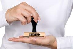 被拒绝的印花税妇女 免版税图库摄影
