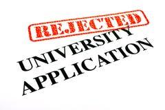 被拒绝的大学应用 免版税库存照片