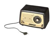 被拔掉的老收音机 免版税库存图片