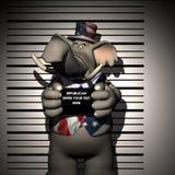 被拘捕的共和党人 库存例证