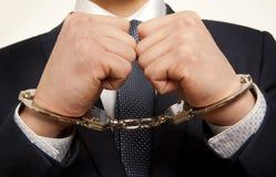 被拘捕的生意人 免版税库存照片
