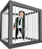 被拘捕的笼子的人 免版税库存图片