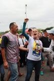 被拘留的委内瑞拉反对派领导人莱奥波尔多卢佩茨的莉莲Tintori妻子 库存照片