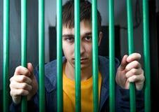 被拘留的年轻人 免版税图库摄影