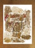 被按的叶子沼泽花束,照片操作 库存图片