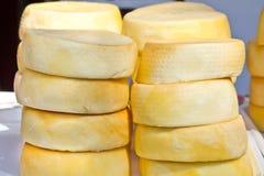 被按的干酪 库存图片