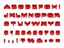 被挤压的字体有角度的上面 免版税库存图片