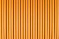 被挤压的心形形成的几何表面,2月第14个概念-回报了摘要的橙色3D例证 库存例证