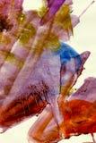 被挫伤的grunge绘画水彩 库存照片