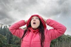 被捉住我的风雨如磐 库存照片