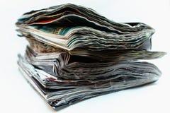 被损坏的老杂志 免版税库存照片