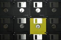 被排列的磁盘 免版税库存照片