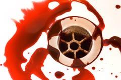 被排泄的血液 库存照片