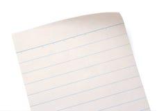 被排行的笔记本纸张 免版税库存照片