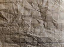 被排行的纸被弄皱的纹理-长方形正方形 库存图片