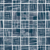 被排行的纺织品无缝的样式 向量例证