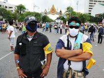 被掩没的抗议者 免版税库存图片