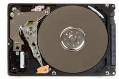 被揭露的2,5英寸笔记本硬盘 免版税图库摄影